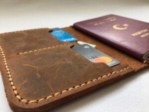 el yapımı hakiki deri pasaport kılıfı pasaportluk pasaport cüzdan